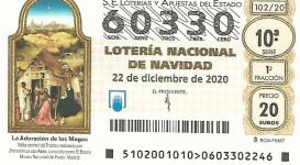 El 60.330, el número de la Lotería de Navidad de los comerciantes de Chamartín